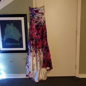 Cache Multicolored Prom Dress